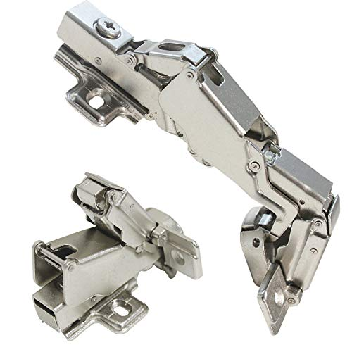 Probrico Frameless Full Overlay Soft Close 165 Degree Clip On Concealed Cabinet Hinges,1 Pair