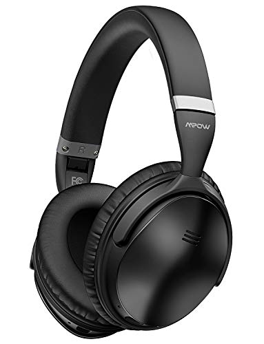 Mpow H5 Active Noise Cancelling Bluetooth Headphones, Superior Deep Bass & 30Hrs Playtime, Soft Protein Earpads, ANC Over-Ear Wireless Headphones with Mic for - Ear Bluetooth Over Headphones