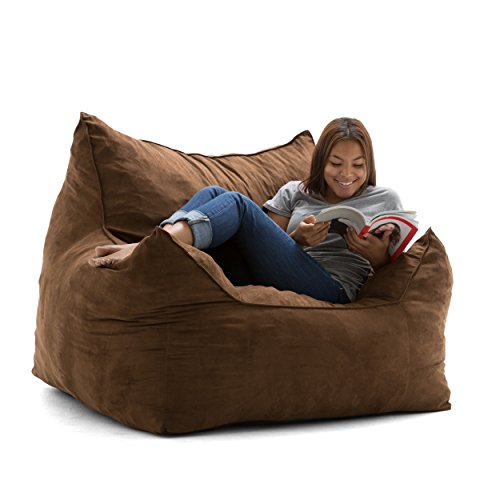 Big Joe Imperial Lounger in Comfort Suede Plus, Chocolate