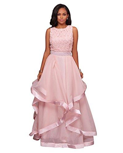 organza pink dress - 1