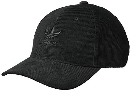 adidas Men's Originals Relaxed Corduroy Cap, black/black, One Size