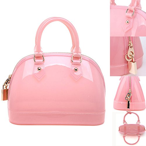 LSQtronics 2015 korean elegant candy bag-the best selling Shell type lovely handbag to accentuate your charming--pink