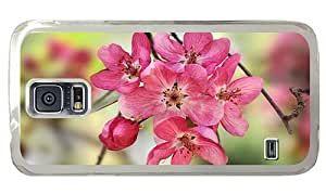 Hipster Samsung Galaxy S5 Case fashion cases crabapple blooms PC Transparent for Samsung S5