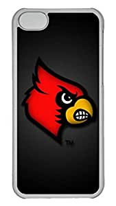 Creative GOOD 5C Case, iPhone 5C Case, Personalized Hard PC Clear Shoockproof Protective Case Cover for New Apple iPhone 5C - Louisville Cardinals