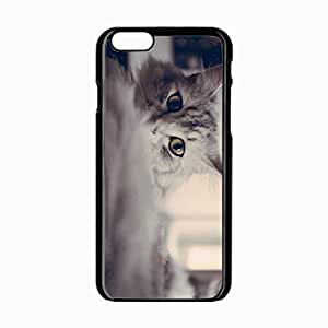 iPhone 6 Black Hardshell Case 4.7inch fluffy eyes Desin Images Protector Back Cover by mcsharks