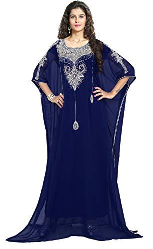 KoC Women's Kaftan Maxi Dress Farasha Caftan KFTN128-Navyblue