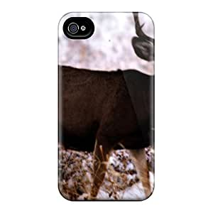 Flexible Tpu Back Case Cover For Iphone 4/4s - Mule Deer