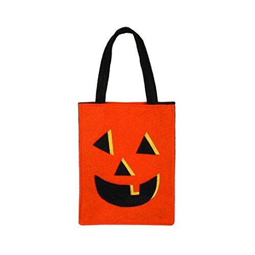 BIEARY Halloween Smile Pumpkin Bag Bat Bag Devil Bag Kids Candy Bag Handbag Bucket Children Festival Decoration