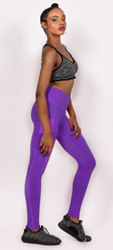 Sport Leggings Moulante Slimmer Femme Collant De Violet Bigood Yoga Elastique n4f51xqx8w