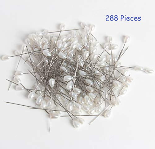 SBYURE 288 Pcs Flower Pins Wedding Bouquet Pins Head Pins Floral Bouquet Pins for Dressmaking Jewelry Components Flower Decoration Sewing