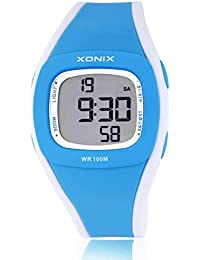 Childrens multi-function digital electronic watch,Led 100 m waterproof sports resin strap alarm