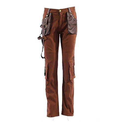 [Men's Steampunk Costume Pants, Coffee Brown (XX-Large)] (Adult Brown Steampunk Costumes Pants)