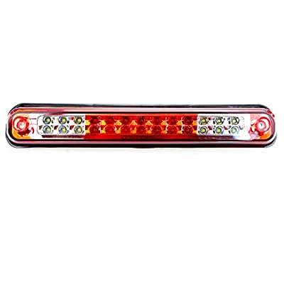 For Chevy/GMC C/K-Series Tahoe Yukon High Mount LED third Brake Cargo Light (Chrome Housing Red Lens): Automotive