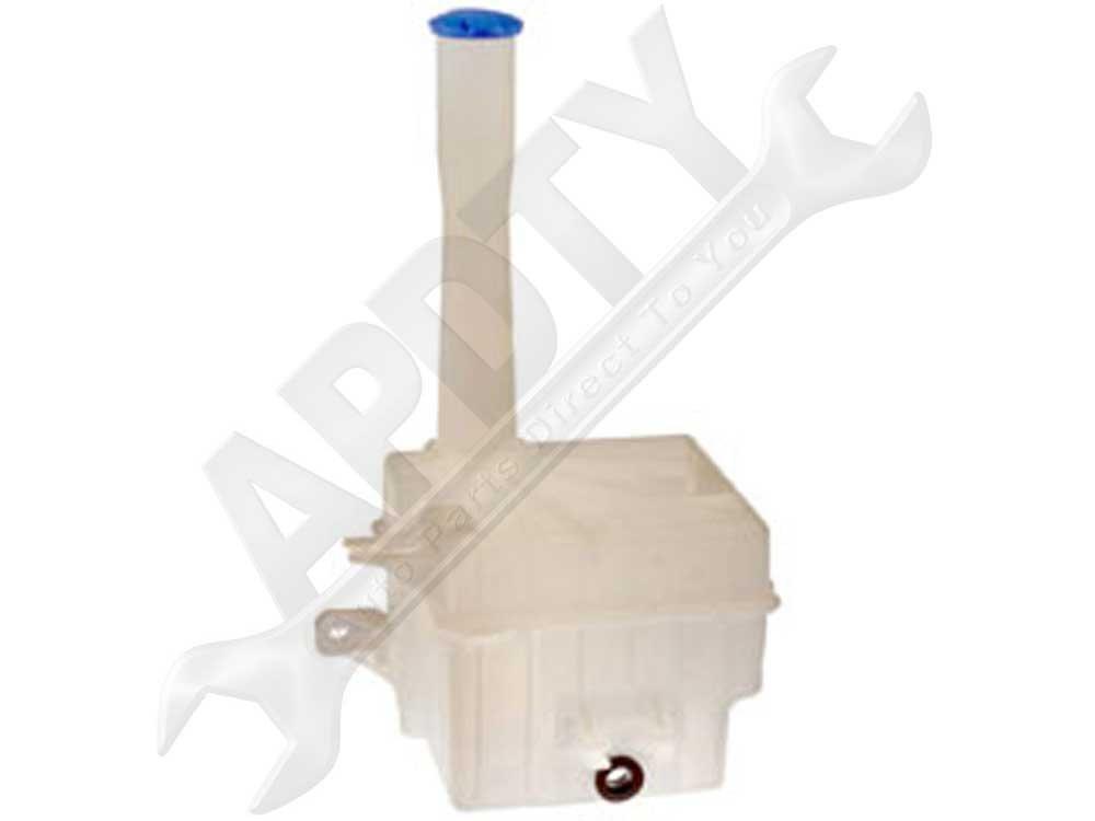 APDTY 714644 Windshield Wiper Washer Fluid Reservoir Bottle Housing w/Cap Fits 2006-2010 Hyundai Sonata (Replaces 986203K100, 986233K000_