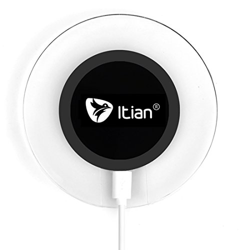 Wireless Charger,Itian Wireless Charging Pad A9 for iPhone 8/8 Plus/X Samsung Note8 S8 S8+ S7 S7 Edge S6 S6 Edge Note5 S6 Edge Plus(NO AC Adapter)-Black