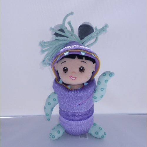 Hard to Find Disney Monsters Inc. 10 Inch Plush Adorable Baby Boo Doll Dressed in Monster Costume New with (Monsters Inc Boo Costume For Baby)