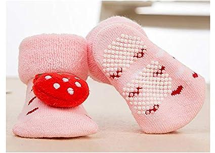 0-9 Meses Z-Chen Pack de 6 Pares Calcetines Antideslizantes para Beb/é Set A