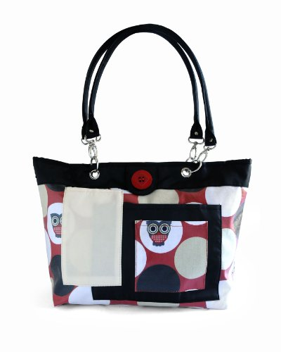 2 Red Hens Rooster Diaper Bag, Owl Dots ()