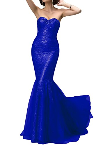 OYISHA Womens Sequin Evening Dress Mermaid Prom Long Formal Celebrity Gown SQ95 Royal Blue (Celebrity Inspired Prom Gowns)