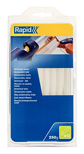 Rapid Multi-Purpose White Hot Glue Sticks, Diameter: 12 mm, Length: 190 mm, 250 g, 40107361
