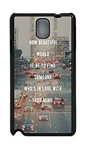 iCustomonline Find Some Who's In Love With Your Mind Designs Case Back Cover for Samsung Galaxy Note 3 N9000 PC Material by runtopwell