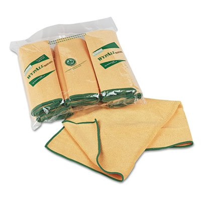 Cloths w/Microban, Microfiber, 15 3/4 x 15 3/4, Yellow, 6/Pack, Sold as 1 Package