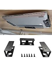 PIAOLGYI Black Under Desk Laptop Holder Mount with Screw,Under Desk Laptop Mount Bracket,Add On Under Table Laptop/Keyboard Storage(3 Pcs)