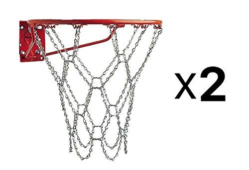 Champion Sports Heavy Duty Galvanized Steel Chain Basketball Goal Net (2)