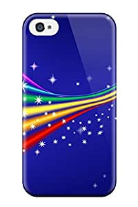 Fashionable Style Case Cover Skin For Iphone 4/4s- Funky Rainbow 9817492K36358232