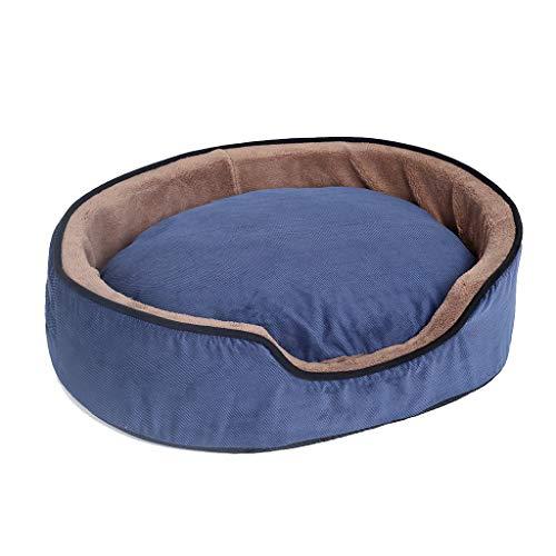 Nido de mascotas Azul Extraíble y Lavable Pet Nest Round Four Seasons Universal Pequeño y Mediano Coral Velvet Rebound...