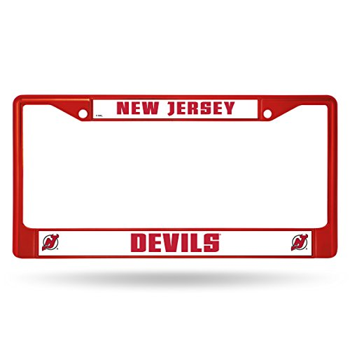 - Rico Industries NHL New Jersey Devils Team Colored Chrome License Plate Frame, Red