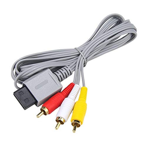 AV Cable for Wii Wii U, AV Cable Composite Retro Audio Video Standard Cord for Nintendo Wii Wii - Cables Av Connectors