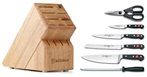 Wusthof Classic 7-Piece Cutlery Set with Storage Block