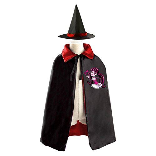 [DIY Monster High Draculaura Costumes Party Dress Up Cape Reversible with Wizard Witch Hat] (Monster High Costumes At Party City)