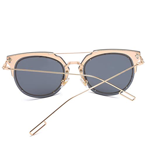 Frame 100 pour polarisées et Lens Gray Black Hommes Femmes Lens Color Blue Protection Soleil Lunettes de Sakuldes Frame Gold UV400 YIqtTzx
