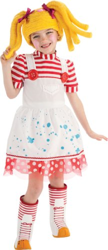 Lalaloopsy Deluxe Spot Splatter Splash Costume - Small (Make Rag Doll Halloween Costume)