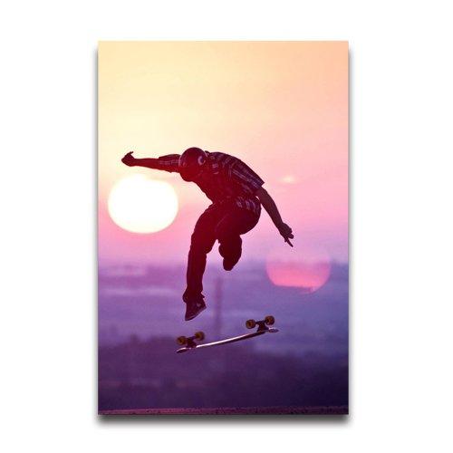 Sunset Skateboard Jump Customized Decorative Creative Art Design Wall Decor Custom Poster 20