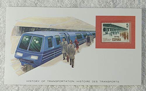 The Subway - Postage Stamp (Spain, 1980) & Art Panel - The History of Transportation - Franklin Mint (Limited Edition, 1986) - Mass Transit, Public Transportation