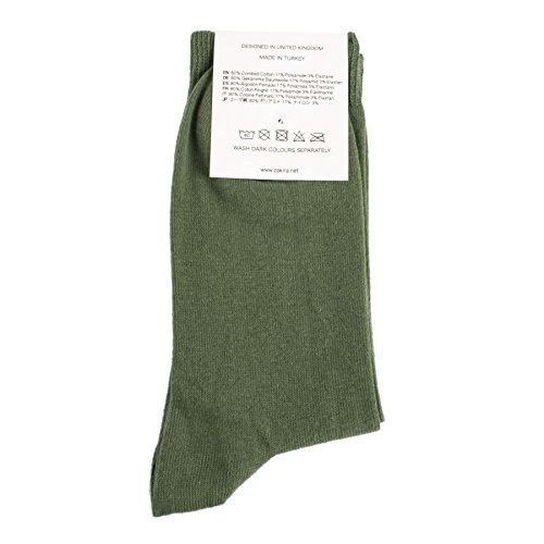 ZAKIRA Fines Chaussettes Élégantes en Coton Peigné à Couleurs Vives, pour les Femmes et les Hommes 5