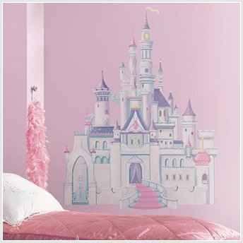 Exceptional Disney Princess Castle Mega Decal Pack   Includes 1 Giant Glittered Castle  Wall Decal (7
