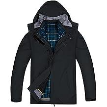 CHOiES record your inspired fashion Men's Winter Mountain Waterproof Windproof Softshell Outwear Fleece Hooded Ski Jacket