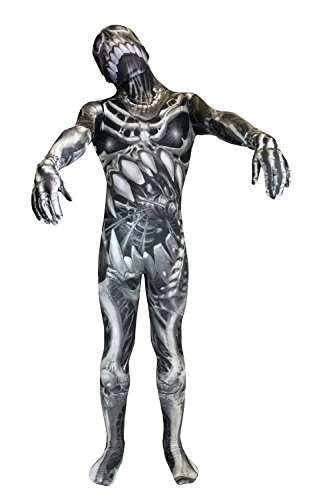 Morphsuits Skull and Bones Kids Monster Carnival Costume - Large 4' - 4'6
