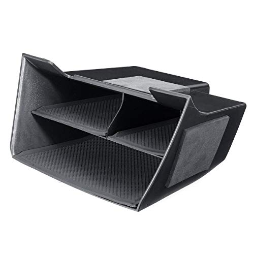 Red CUHAWUDBA Universal Car Central Armrest Storage Box Cup Holder Ashtray Modification Accessories for Corsa D Armrest Box