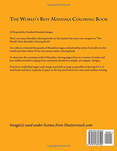 Amazon The Worlds Best Mandala Coloring Book A Stress Management For Adults 9781514657522 Marti Jos Books