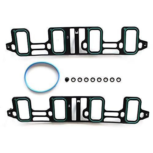- cciyu Intake Manifold Gasket Kit Replacement fit for 07-16 Cadillac Escalade Chevrolet Avalanche Silverado Suburban Tahoe GMC Savana Sierra Yukon 1500 2500 3500 Hummer H2 6.2 6.0L
