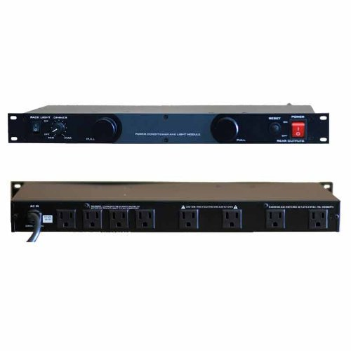 Gem Sound 19'' Rack Mount Power Conditioner w/ dual lights GL-99 by Gem Sound