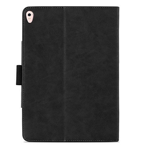 iPad Pro 9.7'' Case, JAMMYLIZARD The Original Black & Tan Leather Smart Cover by JAMMYLIZARD (Image #5)