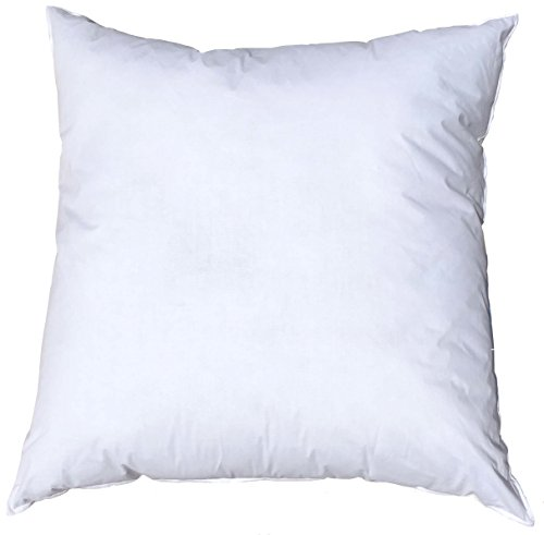 Pillowflex 15x15 Inch Premium Polyester Filled Pillow Form Insert - Machine Washable - Square - Made In USA