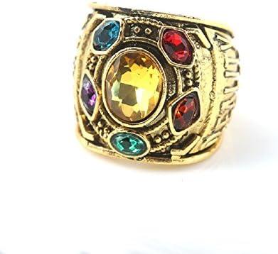 (ヨヨ ホウス)コスプレアクセサリー 無限戦 タノス インフィニティグローブの指輪 無限石のリング ハロウィン 男女兼用(16)