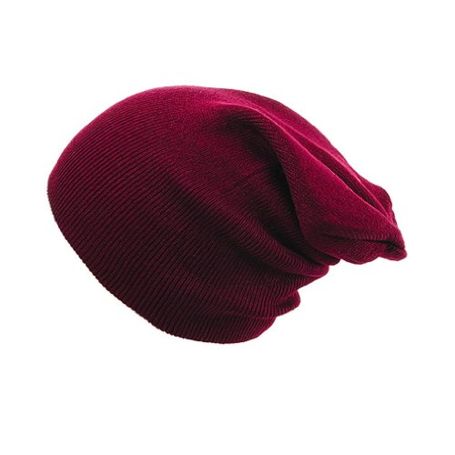 Beanie Men 4sold Plain Universal Dark Size Black Red gpnqx6v